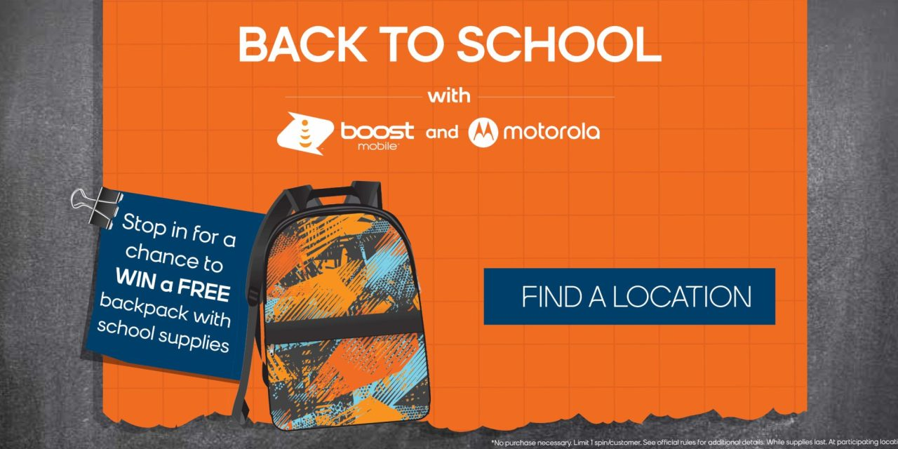 FREE Back To School Backpack