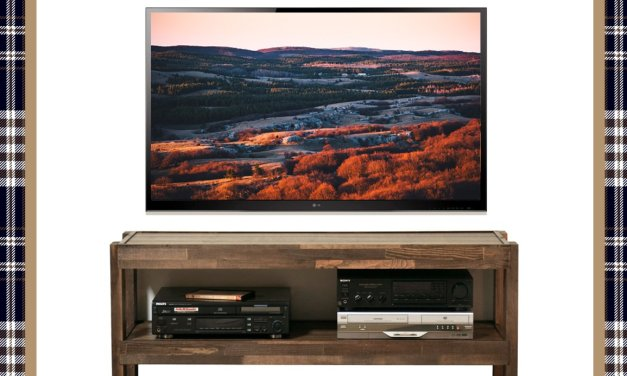Woodwaves Rustic Wood TV Stand Giveaway