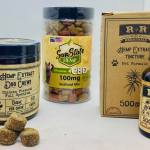 Free Sample of Flavored CBD Pet Tincture and CBD Dog Treats