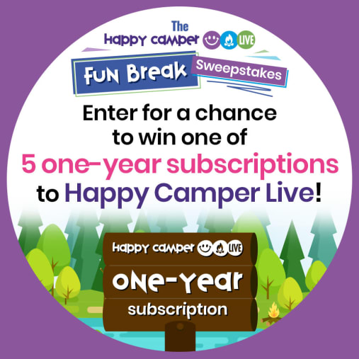 The Happy Camper Live Fun Break Sweepstakes