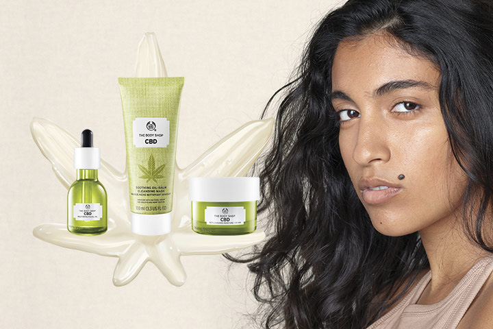"""Free """"The Body Shop"""" CBD Skincare Products"""