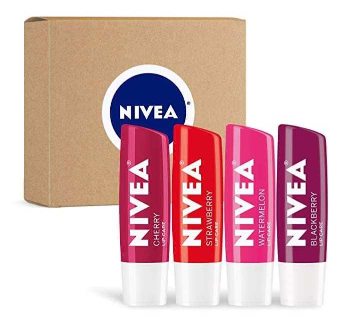 Free 4-Pack of Nivea Tinted Lip Balm