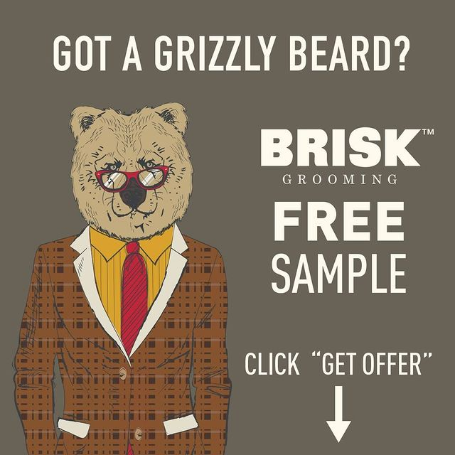 Free Brisk Grooming Beard Product Samples