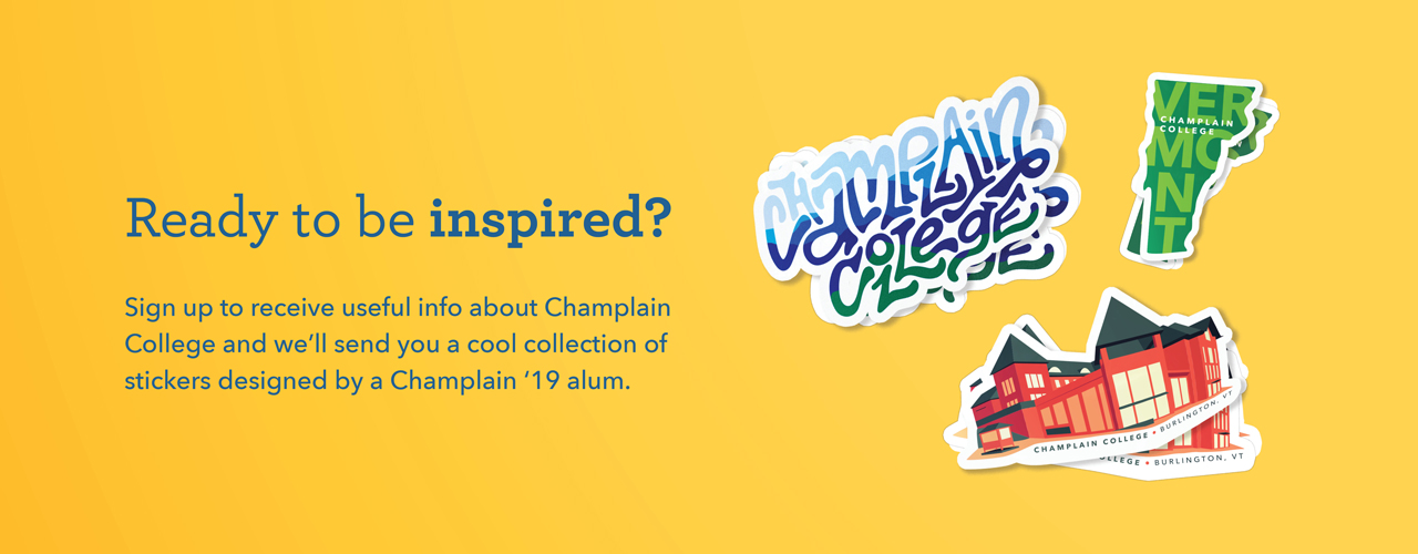 Free Champlain College Sticker Pack