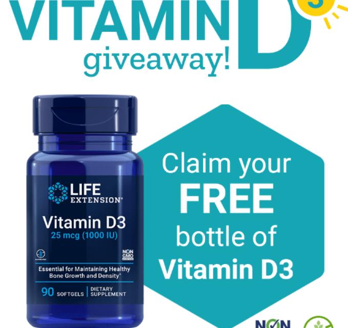 FREE Full Size LifeExtension Vitamin D3 Sample