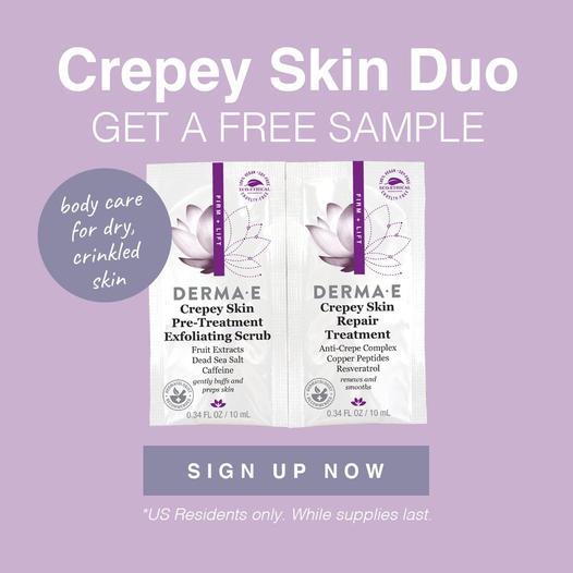 FREE DERMA E Crepey Skin Duo Sample