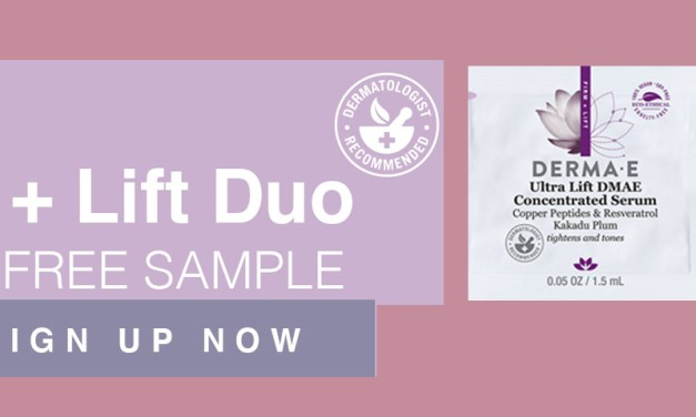 FREE DERMA E Firm and Lift Serum and Moisturizer Duo Samples