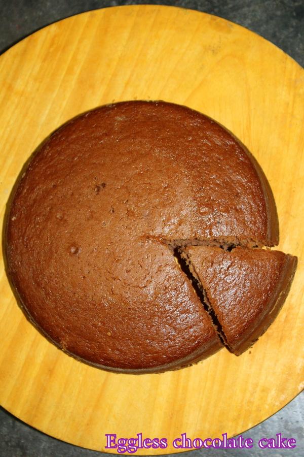 Eggless Chocolate Cake Recipe Eggless Cake Without Oven Yummy