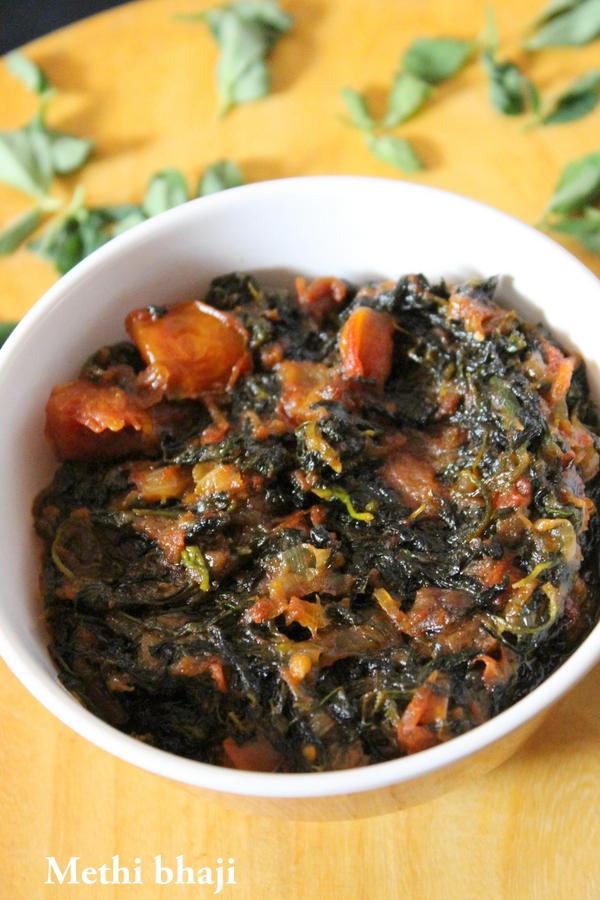 methi bhaji recipe, methi ki sabji - Yummy Indian Kitchen