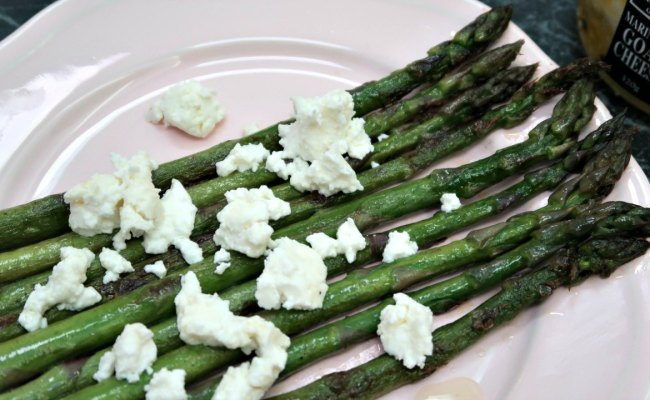 Keto Sauteed Asparagus With Goat Cheese Feta Recipe