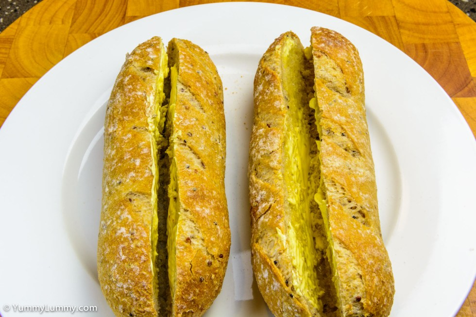 Wholemeal and quinoa pane di casa with lashings of butter