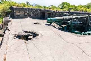Battery Crockett on Corregidor Island mortar hole