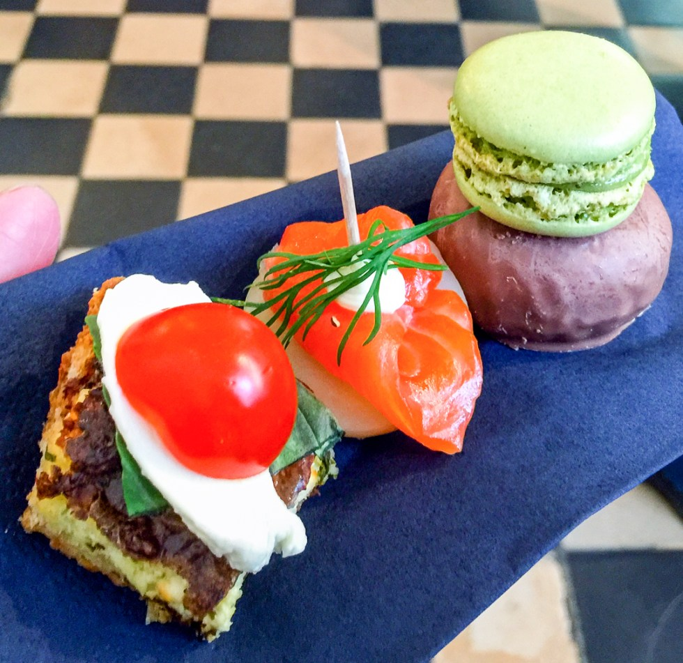 Canapes at the Design Museum