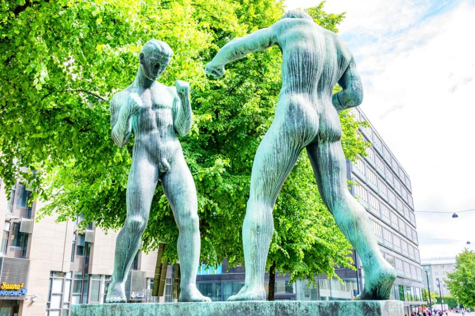 Public art and pubic art in Helsinki