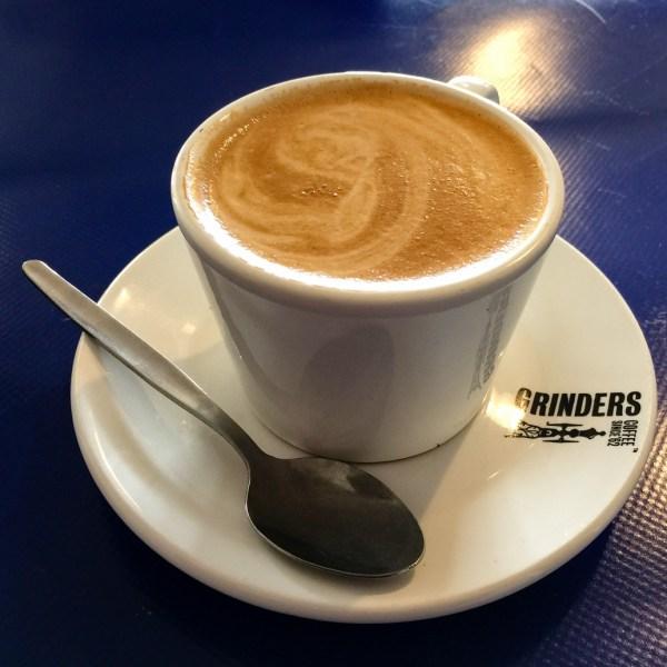 Coffee from the Interchange Cafe Tarcutta road trip to Bendigo