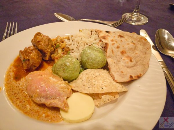 Northern Indian dinner at The Imperial Hotel | The big green balls were a bit funky, everything else was fantastic. alimentary tract Gary Lum