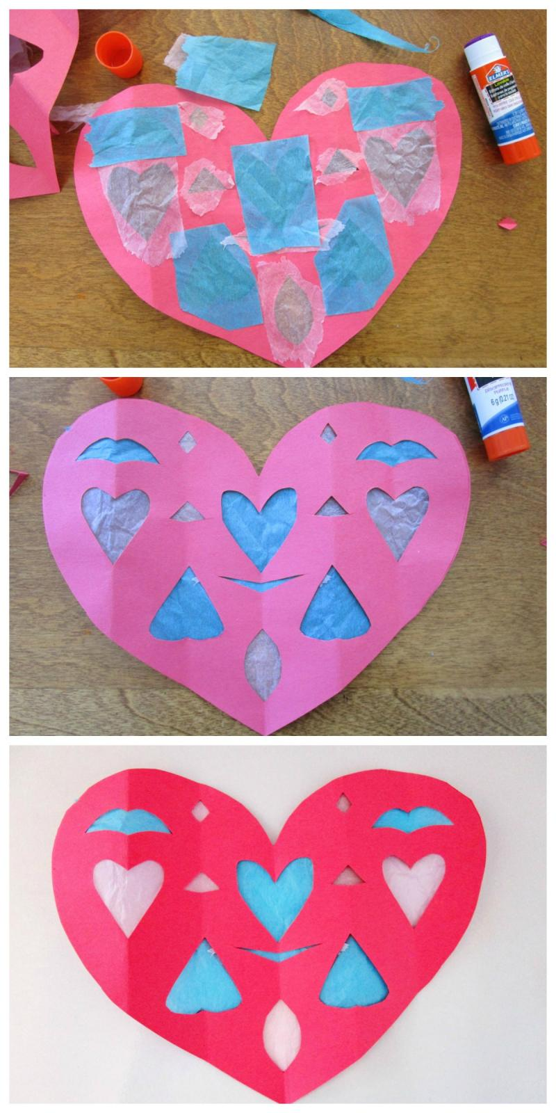 Paper Heart Decorations : paper, heart, decorations, Paper, Heart, Window, Decorations, YummyMummyClub.ca