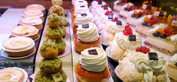 A look a their pastry case.