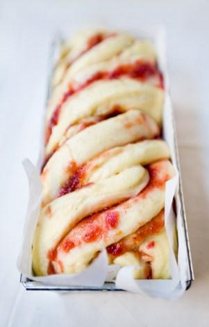 Orange Vanilla Rhubarb Brioche