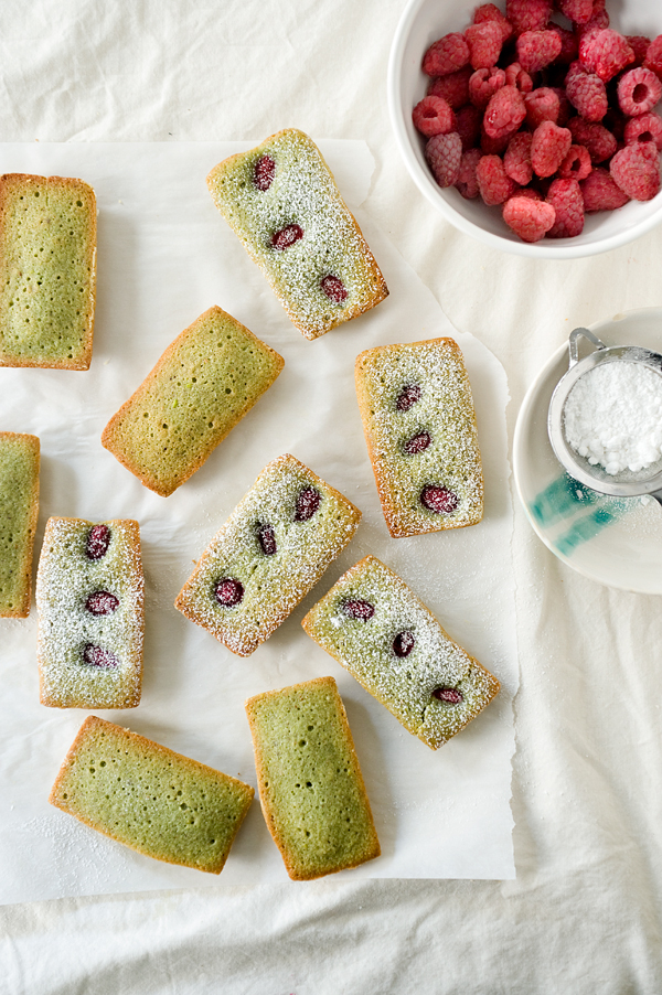 Pistachio Raspberry Financiers