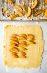 Maple Bourbon Roasted Peach Galette