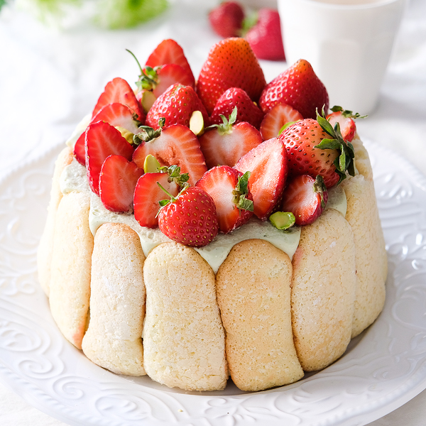 Strawberry Pistachio Charlotte