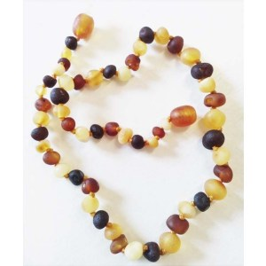 Yummy Mummy Emporium and Apothecary - Bringing the Wisdom of Mother Nature to Life - Genuine Raw Multi Amber Teething Necklace for Children