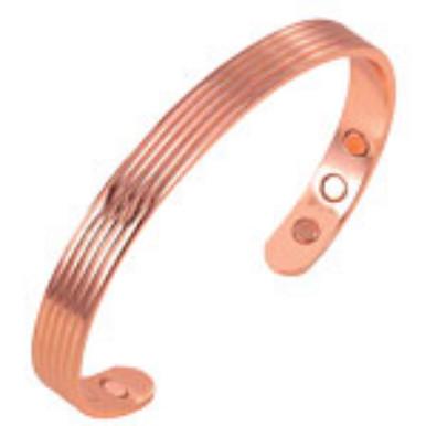 YumNaturals Emporium - Bringing the Wisdom of Nature to Life - Copper Magnetic Bracelet - 5 Strand