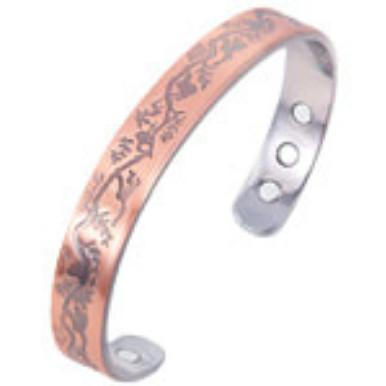 YumNaturals Emporium - Bringing the Wisdom of Nature to Life - Copper Magnetic Bracelet - Leaves