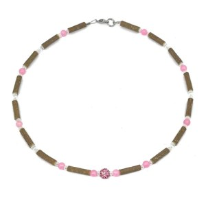 YumNaturals Emporium - Bringing the Wisdom of Mother Nature to Life - Hazelwood Rose Quartz Necklace Shamballa Bead 1
