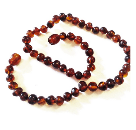YumNaturals Emporium and Apothecary- Bringing the Wisdom of Mother Nature to Life - Genuine Polished Cognac Amber Teething Necklace for Children