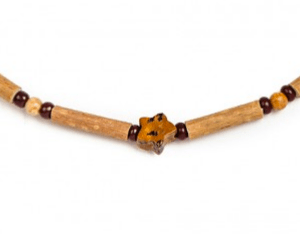 YumNaturals Emporium and Apothecary- Bringing the Wisdom of Mother Nature to Life - Leopard Jasper Hazelwood Necklace for Babies & Children
