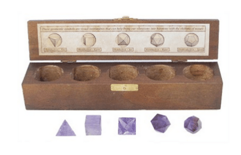 YumNaturals Emporium and Apothecary- Bringing the Wisdom of Mother Nature to Life - PLATONIC SOLIDS 5 PIECE SET (SACRED GEOMETRY) - AMETHYST