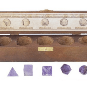 YumNaturals Emporium and Apothecary - Bringing the Wisdom of Mother Nature to Life - PLATONIC SOLIDS 5 PIECE SET (SACRED GEOMETRY) - AMETHYST