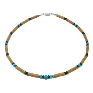YumNaturals Emporium - Bringing the Wisdom of Mother Nature to Life - Turquoise & Black Hazelwood Necklace for Babies & Children_1