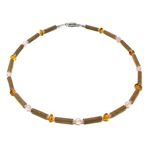 YumNaturals Emporium - Bringing the Wisdom of Mother Nature to Life - Hazelwood Baltic Amber Rose Quartz For Babies And Children 1