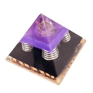 YumNaturals Emporium - Bringing the Wisdom of Nature to Life - Artisan Pyramid Orgonite Generator Violet 1