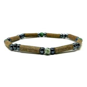 YumNaturals Emporium - Bringing the Wisdom of Mother Nature to Life - Hazelwood Tree Agate Single Bracelet 1