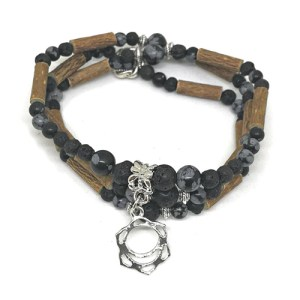 YumNaturals Emporium - Bringing the Wisdom of Mother Nature to Life - Hazelwood Lava Stone Diffuser Snowflake Obsidian 2-in-1 Sacral Chakra 1