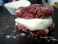 Red Velvet-Vanilla Bean Ice Cream Sandwiches