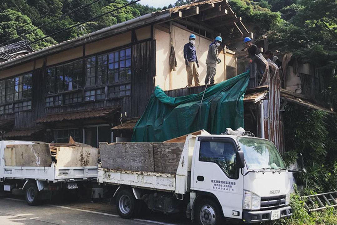 建物の一部を解体しリノベーション