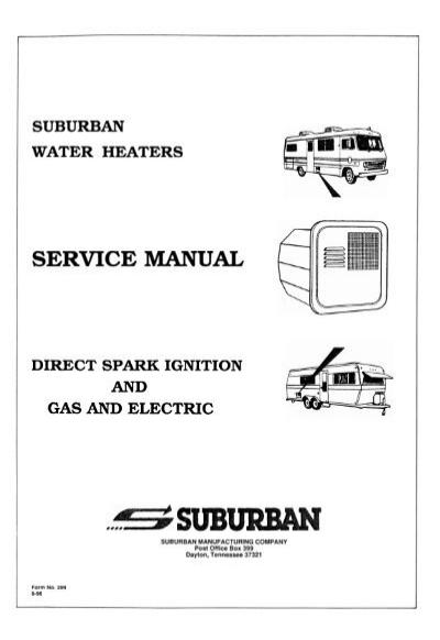 Suburban Rv Water Heater Parts Diagram : suburban, water, heater, parts, diagram, Suburban, Water, Heater, Service, Manual