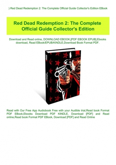 Red Dead Redemption 2 Guide Pdf : redemption, guide, READ), Redemption, Complete, Official, Guide, Collector's, Edition, EBook