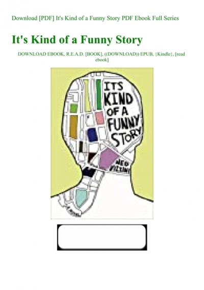 It's Kind Of A Funny Story Book Pdf Download : funny, story, download, Download, [PDF], It's, Funny, Story, Ebook, Series
