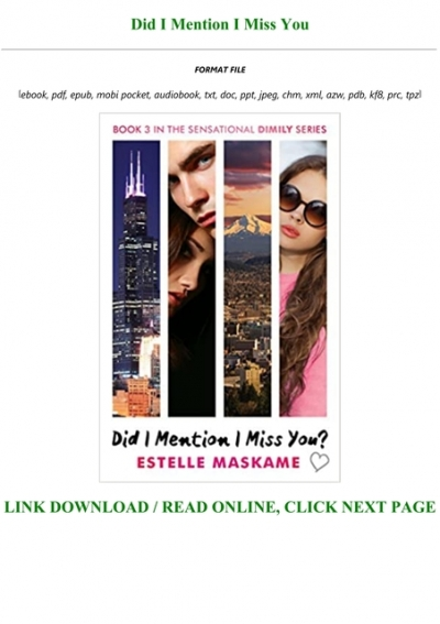 Did I Mention I Miss You? eBook by Estelle Maskame