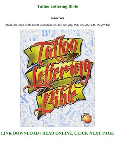 Tattoo Lettering Bible : tattoo, lettering, bible, !Book, Tattoo, Lettering, Bible, Books
