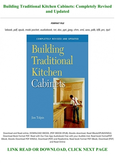 Building Kitchen Cabinets Pdf : building, kitchen, cabinets, D.O.W.N.L.O.A.D, Building, Traditional, Kitchen, Cabinets:, Completely, Revised, Updated, Books