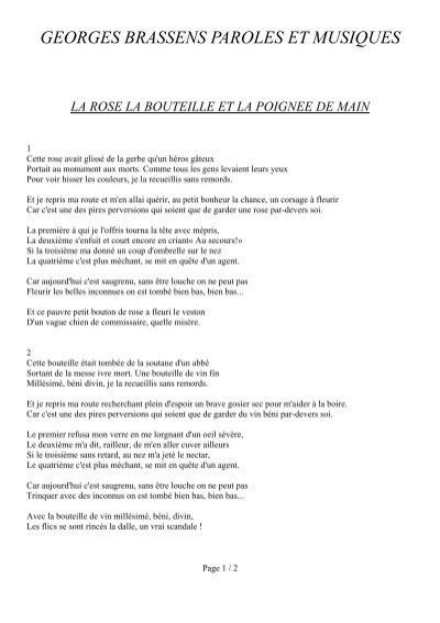 Georges Brassens Le Petit Chemin : georges, brassens, petit, chemin, Imprimer, Paroles, Brassens, Musiques
