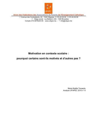 La Motivation En Contexte Scolaire : motivation, contexte, scolaire, Motivation, Contexte, Scolaire, Pourquoi, Certains, Sont-ils, Ufapec