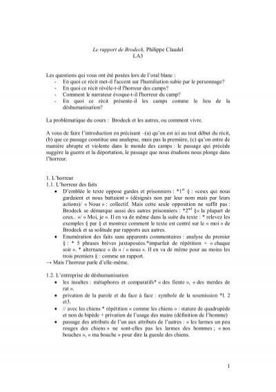 Le Rapport De Brodeck Personnages : rapport, brodeck, personnages, Rapport, Brodeck,, Philippe, Claudel, Créer